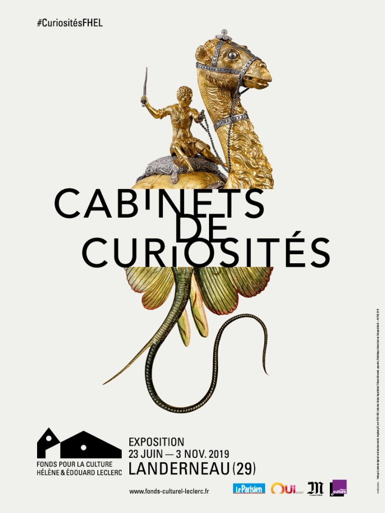 Affiche Cabinets Curiosités_Horloge à automate, Augsbourg, v1595-1605, Collection G. Kugel (détail)_Aldrovandi, aquarelle, Bibliothèque Universitaire Bologne © FHEL 2019