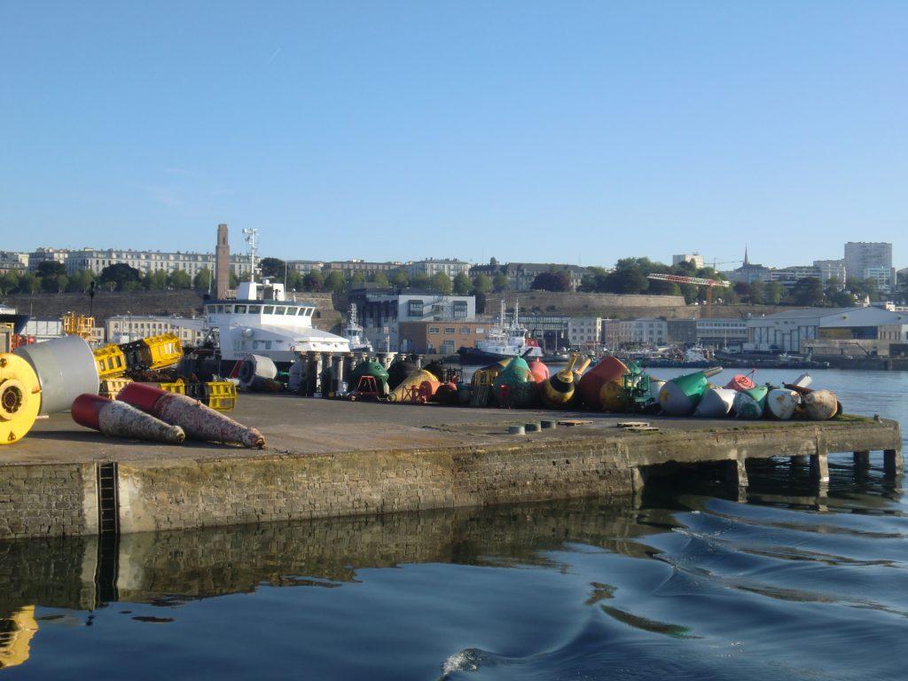 la rade de Brest avec vue sur le port ©CLB
