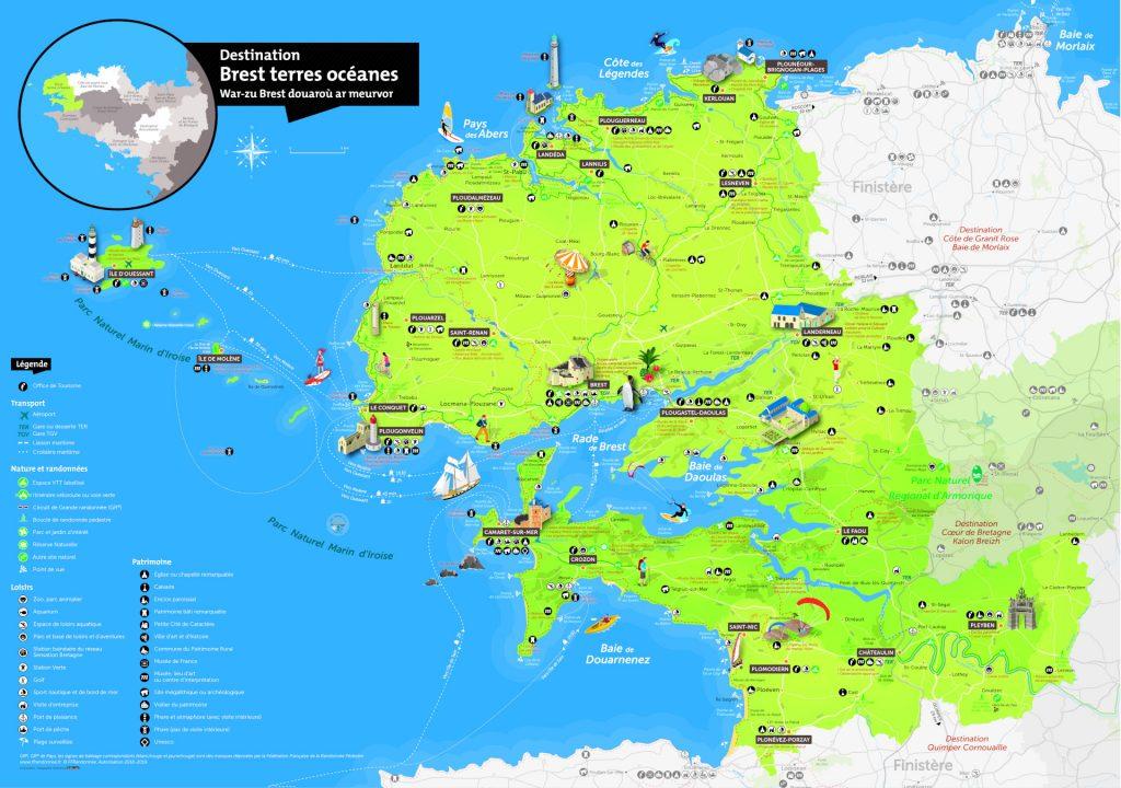 Carte Brest terres océanes 2018