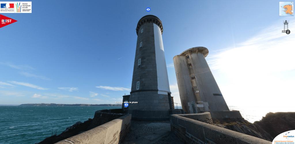Visite virtuelle phare du Petit Minou