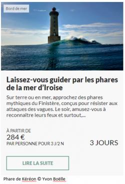 Offre séjour Phares en mer d'Iroise