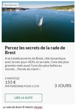 Offre séjour Secrets de la rade de Brest